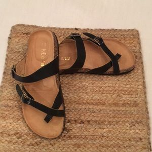 Shoes - black strap sandals